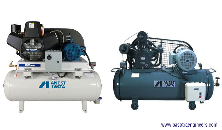 anest iwata Air Cooled Lubricated Reciprocating Air Compressor distributors suppliers in ludhiana punjab india